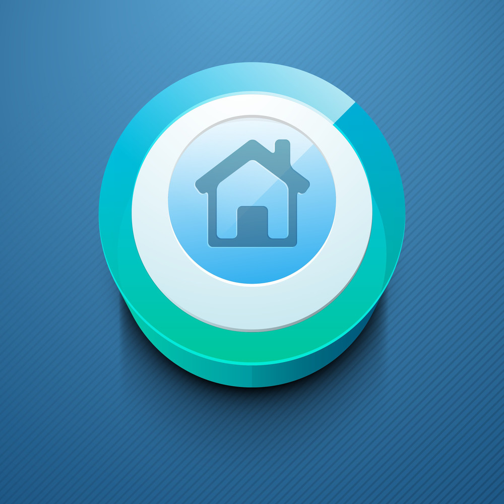 Glossy 3d Web 20 Home Or Homepage Symbol Icon Set
