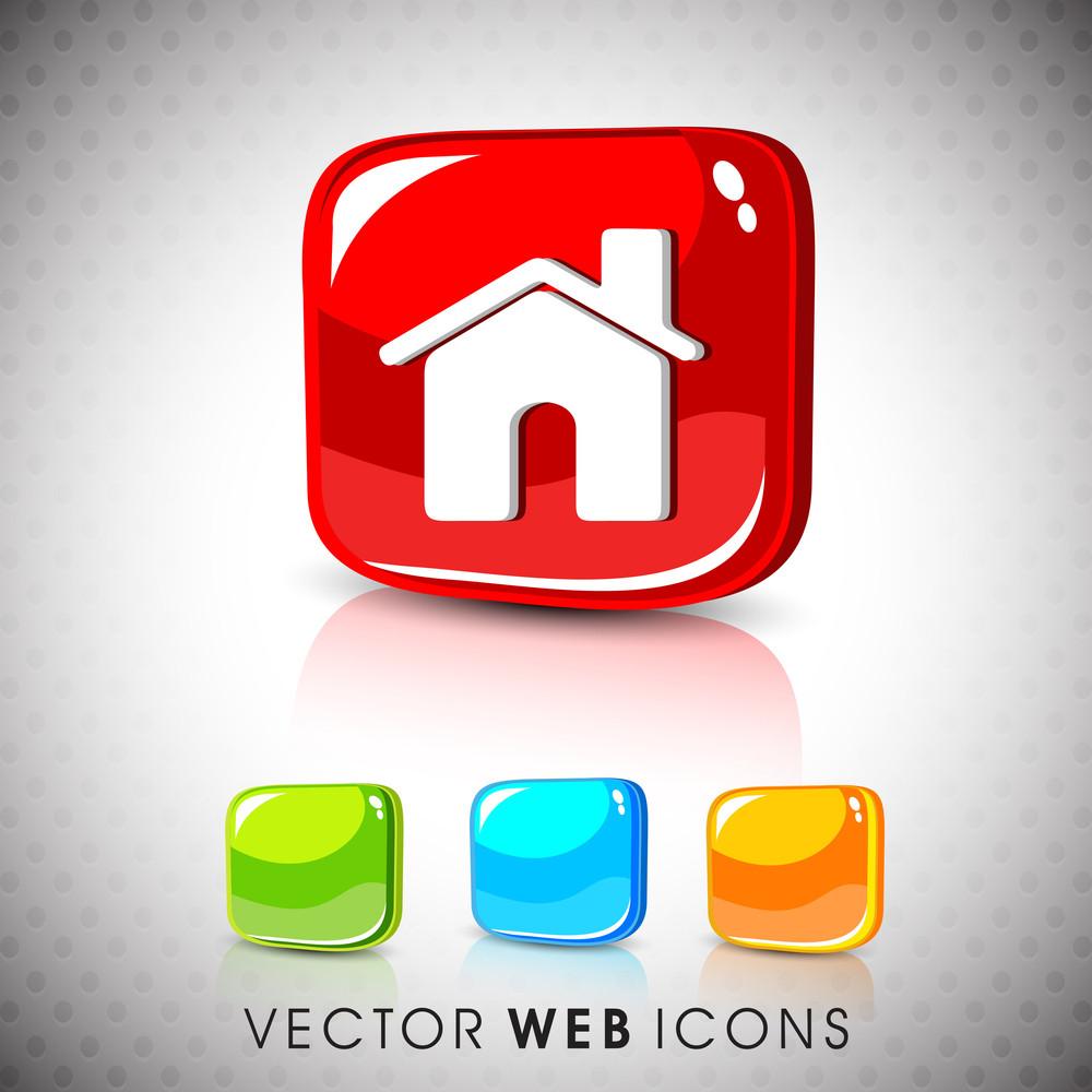 Glossy 3d Web 2.0 Message Symbol Icon Set.