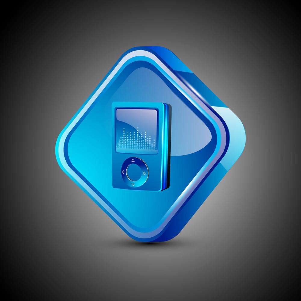 Glossy 3d Web 2.0 Mp3 Symbol Icon Set.