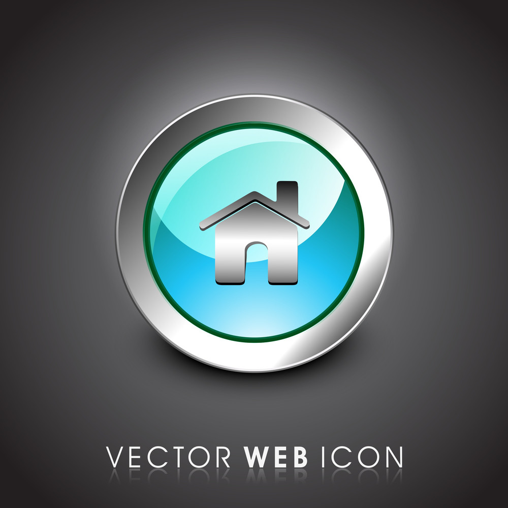 Glossy 3d Web  Home Or Homepage Symbol Icon