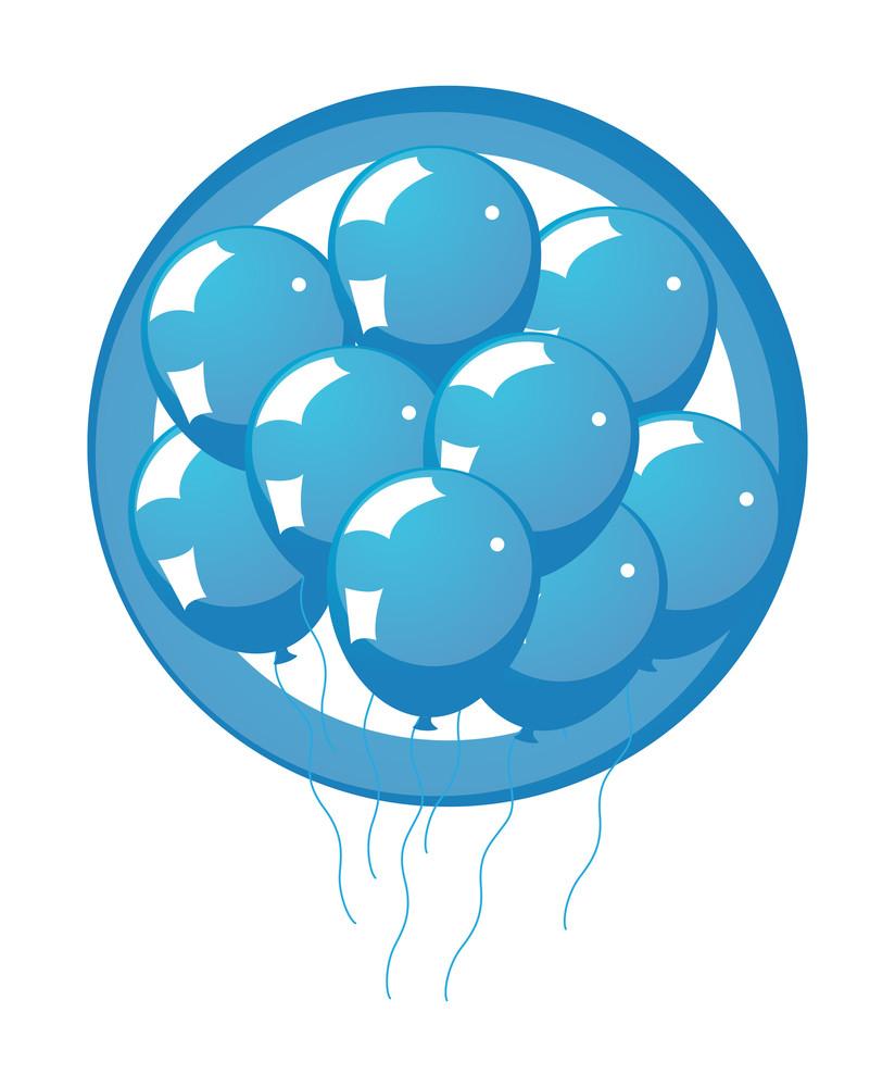 Glossy Balloons Banner