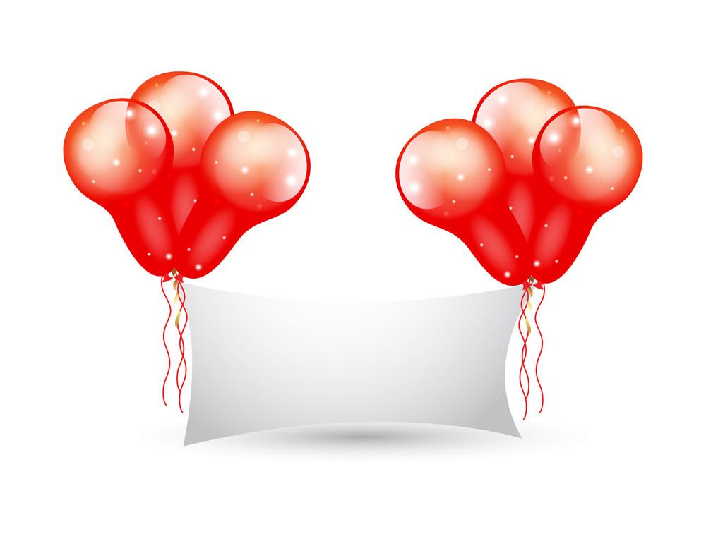 Glossy Balloons Bunch Banner