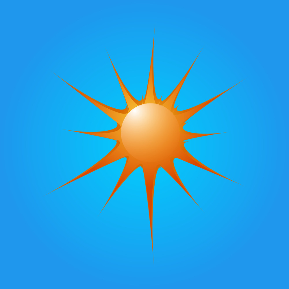Glossy Bright Sun