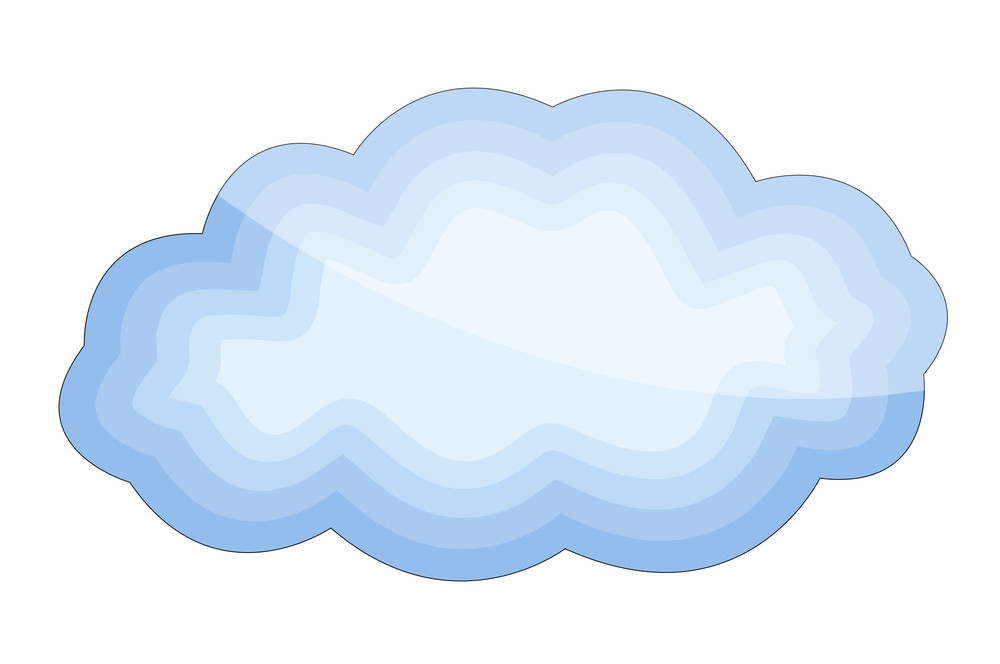 Glossy Cloud Shape