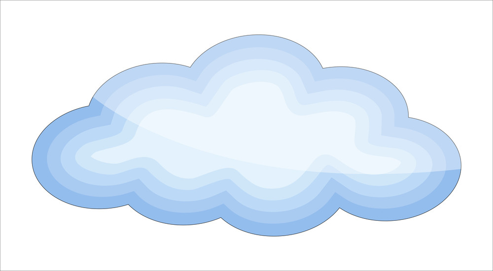 Glossy Cloud Vector