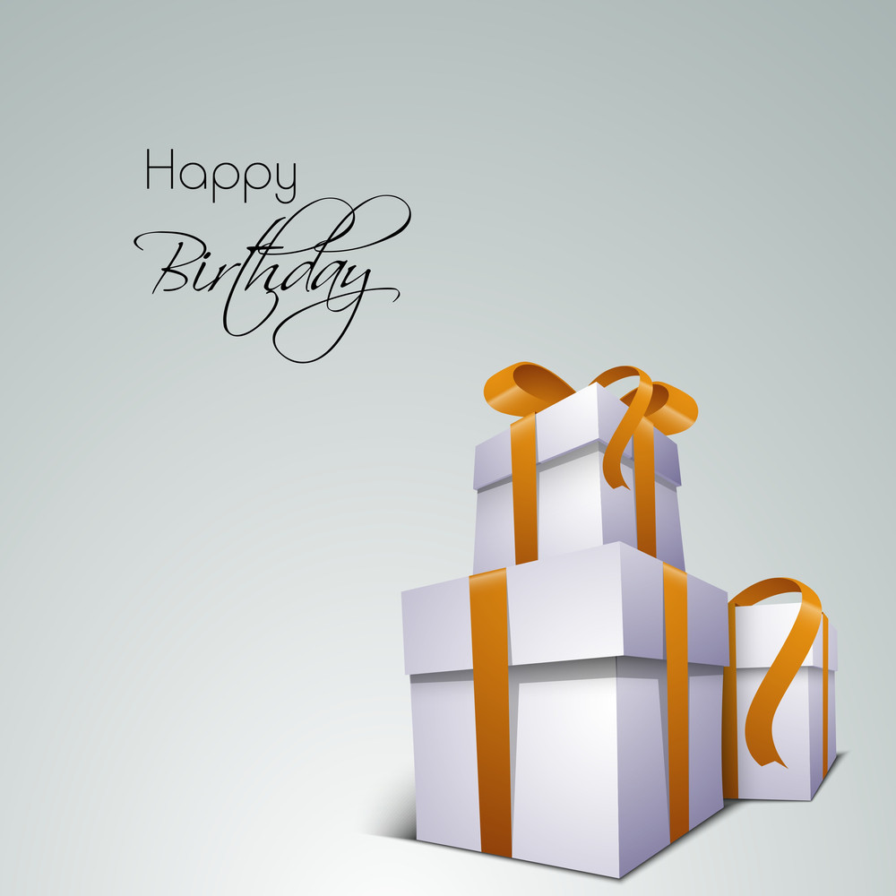 Glossy Gift Boxes On Green Background