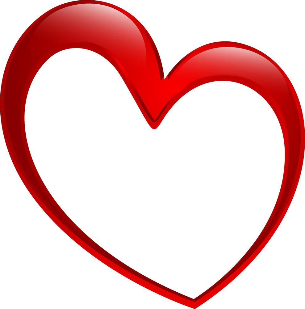 Glossy Heart Frame