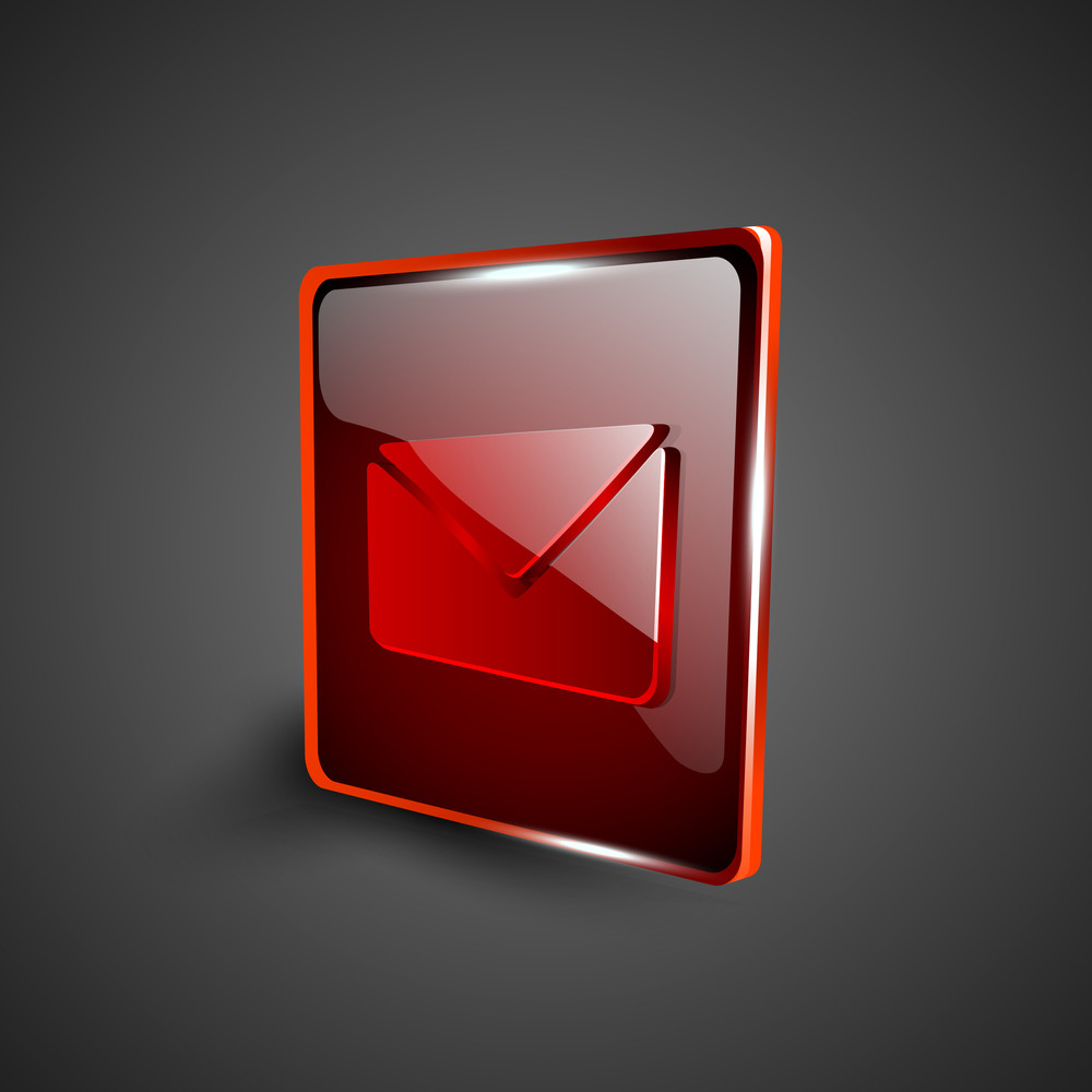Glossy Red 3d Web 2.0 Message Symbol Icon Set 10