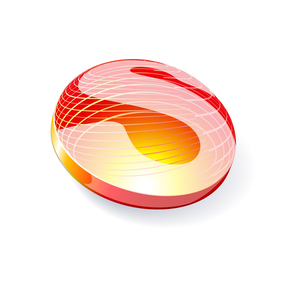 Glossy Spheres Abc. Letter S. Vector.
