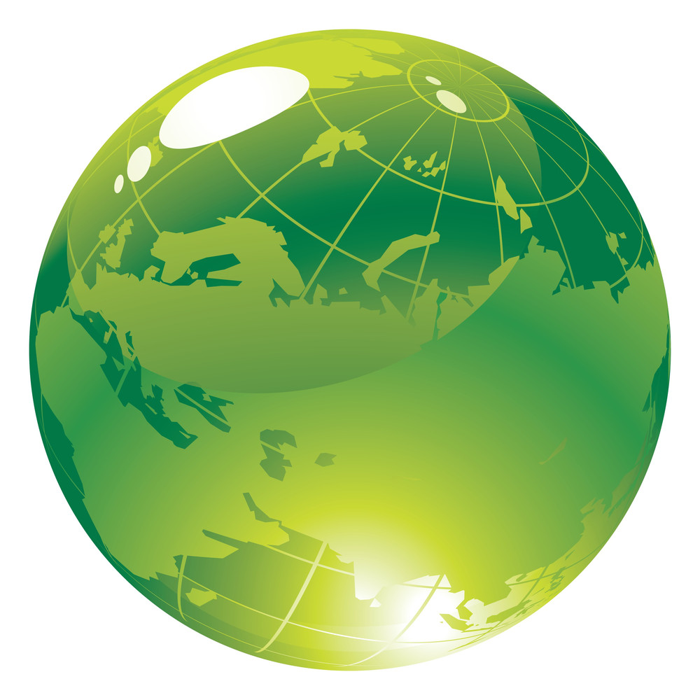 Glossy Spheres And Globes. Vector.