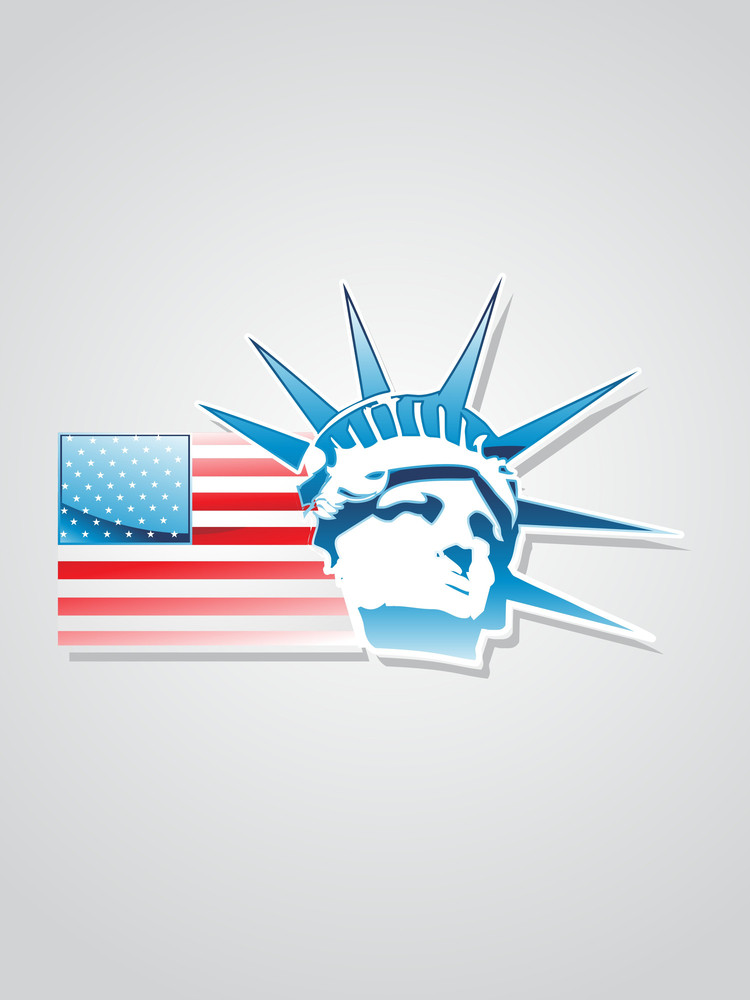 Glossy Usa Flags