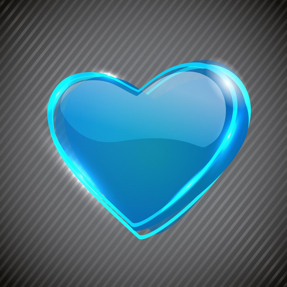Glossy Valentine Heart.