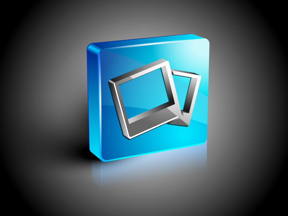 Glossy Web 2.0 Image Gallery Icon Symbol Icon Set.