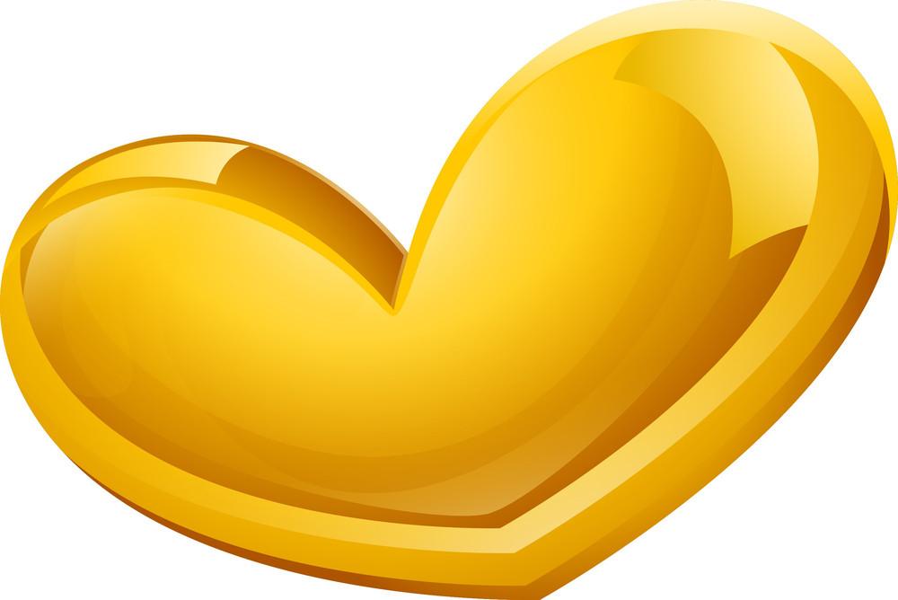 Glossy Yellow Heart