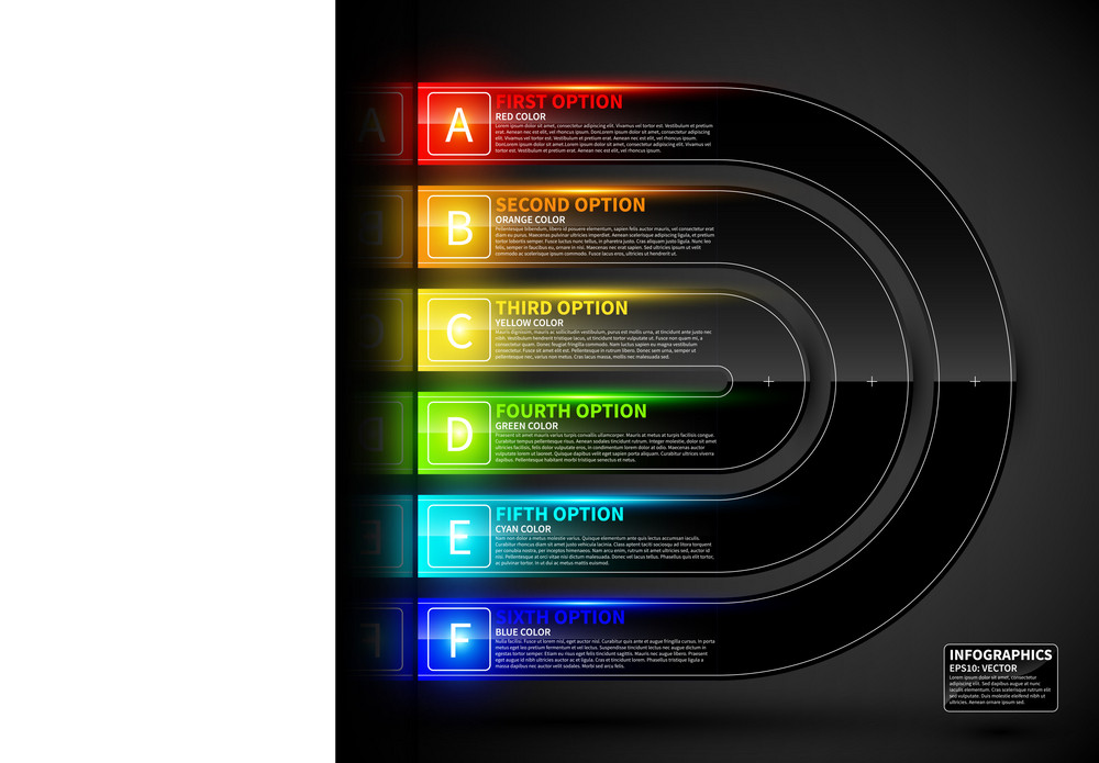 Glossy Colorful Design Template. Can Be Used For Infographics