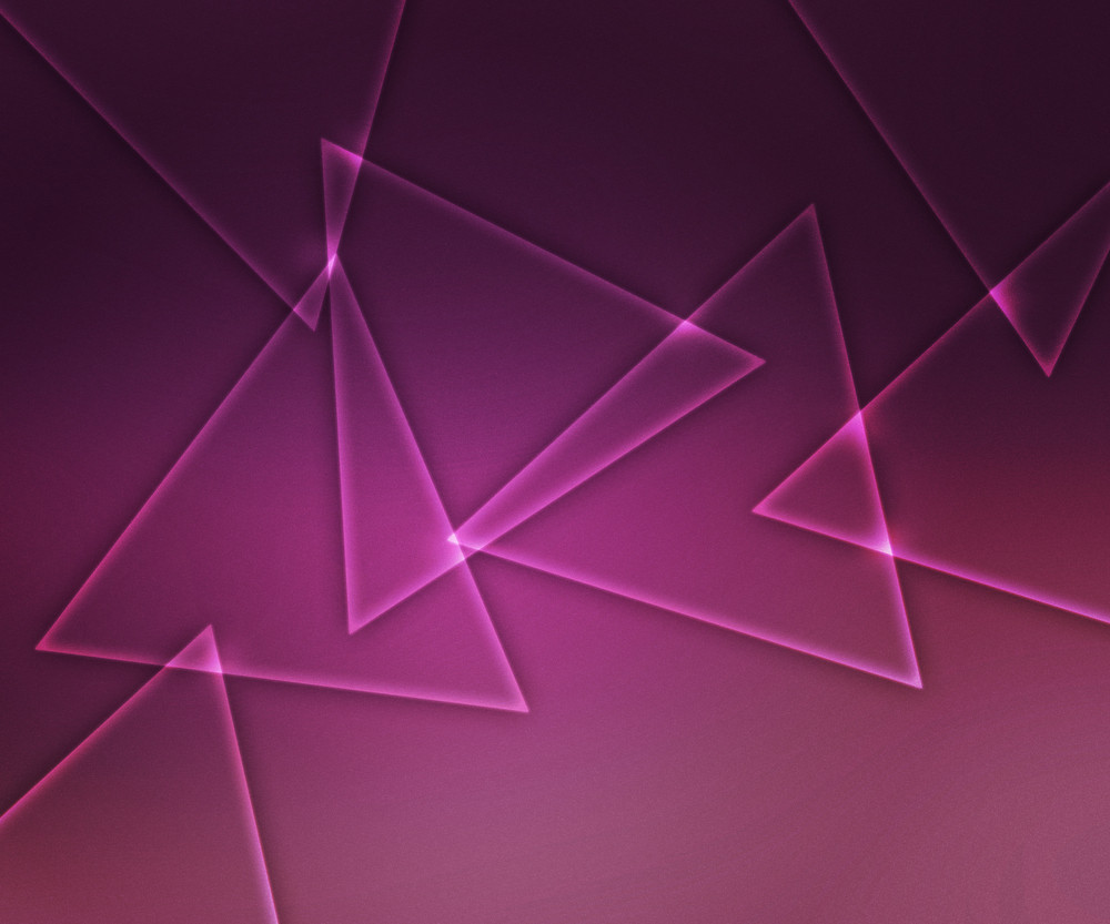 Glowing Shapes Pink Background