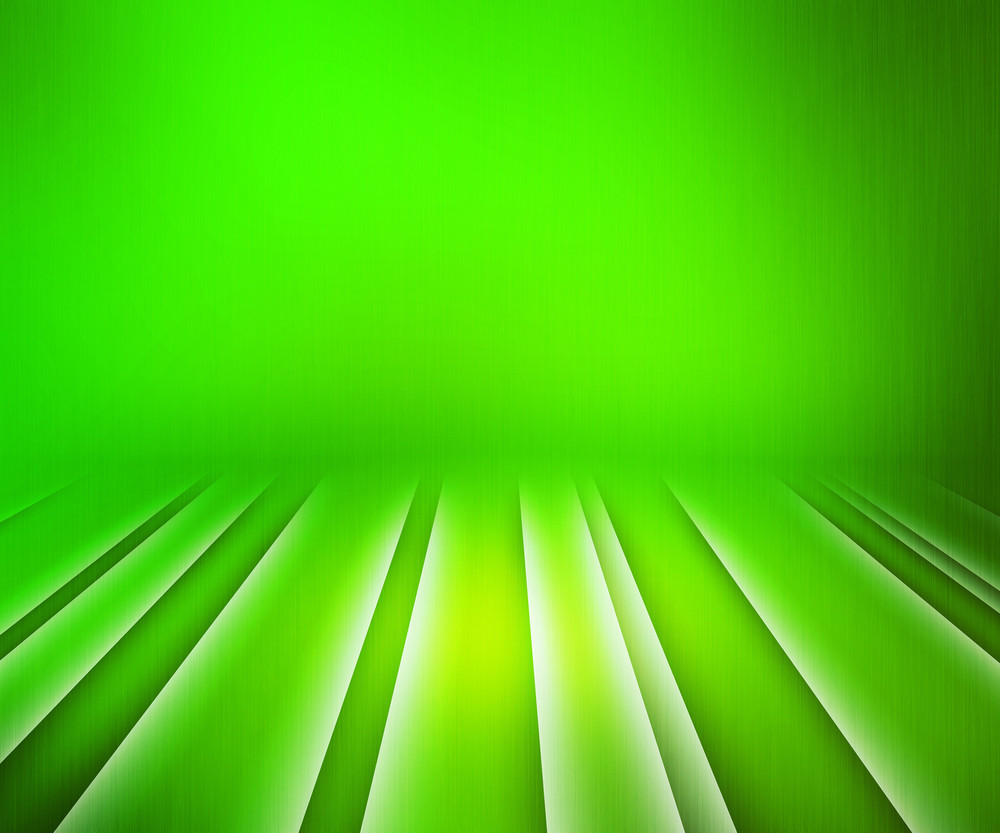 Glowing Stripes Green Stage Background