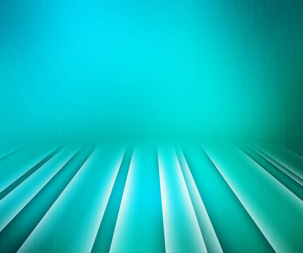 Glowing Stripes Teal Stage Background