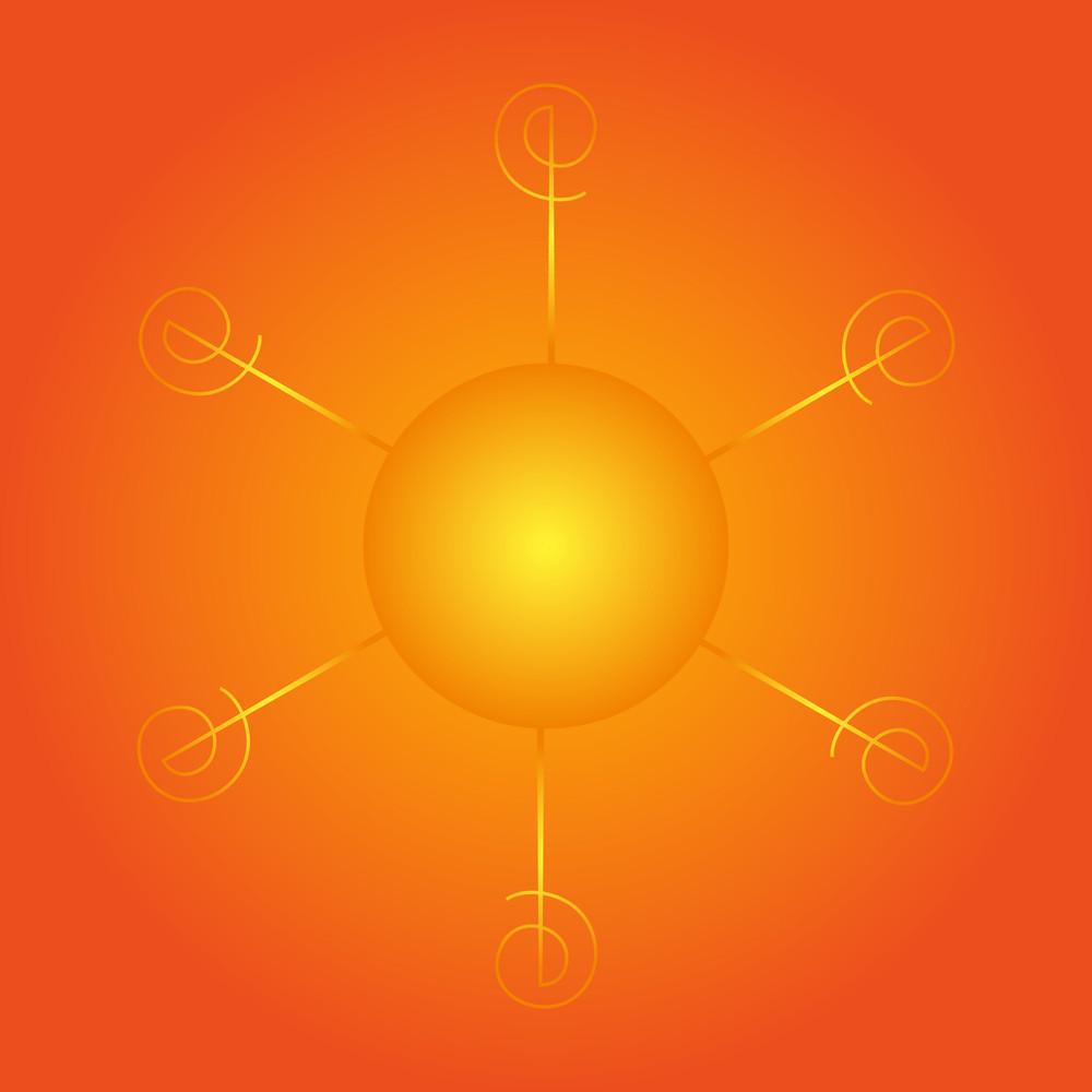Glowing Sun Icon