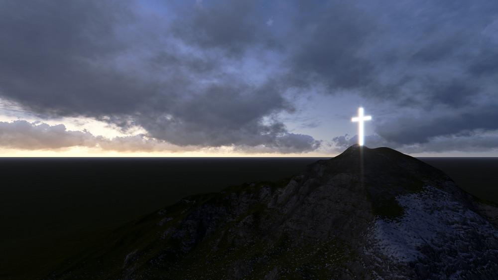 Glowing Wooden Cross