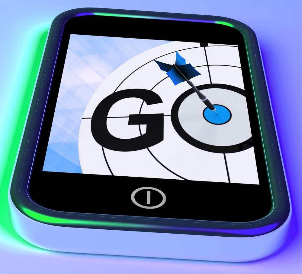 Go On Smartphone Shows Target Beginnings