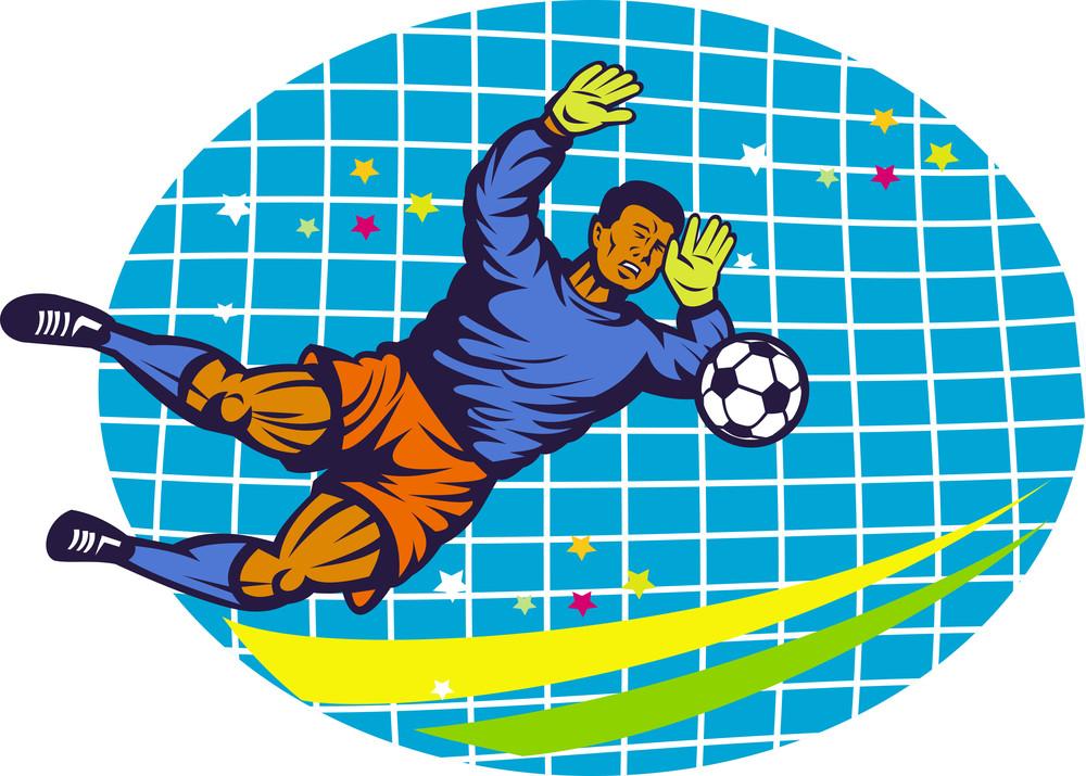 Goalie Soccer Football Player Retro