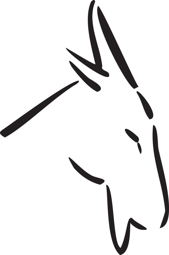 Goat For Capricorn Astrology Sign.