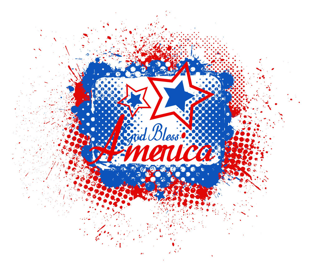 God Bless America Usa Independence Day Vector Theme Design