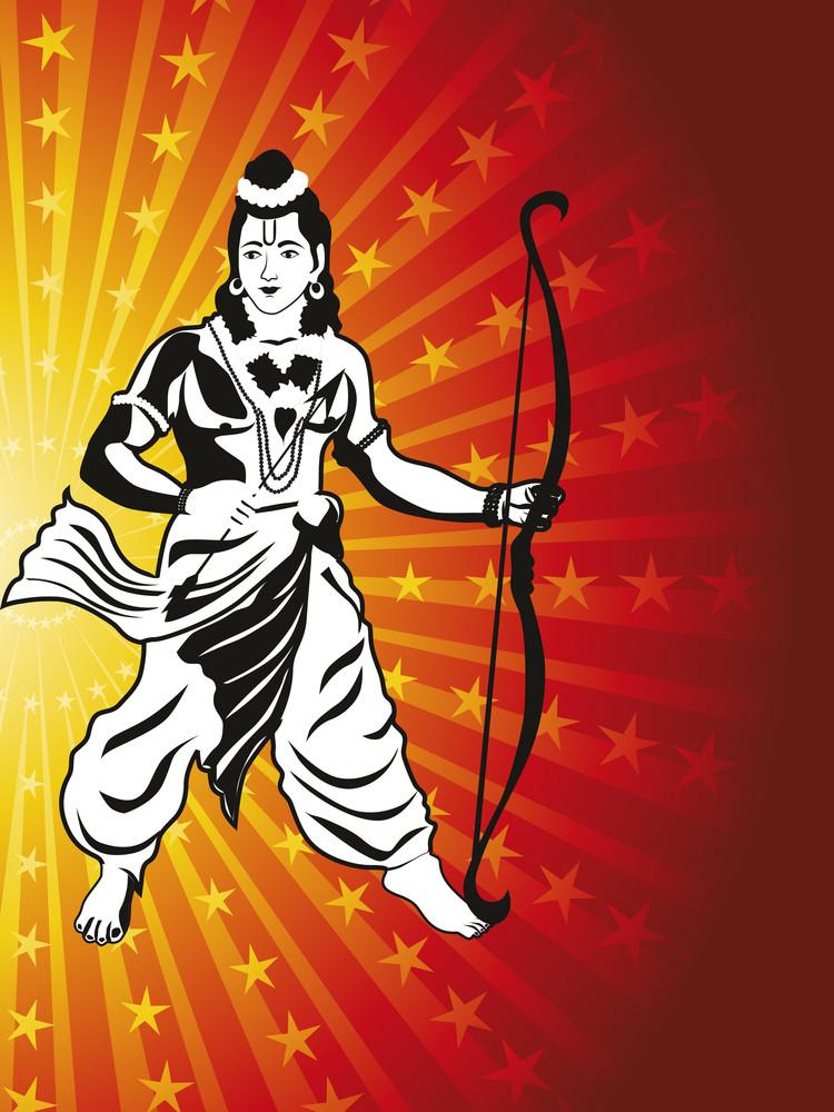God Rama With Arrow And Bow