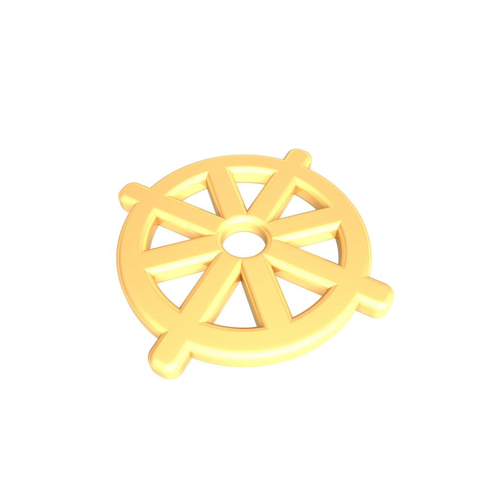 Gold Buddhism Symbol.