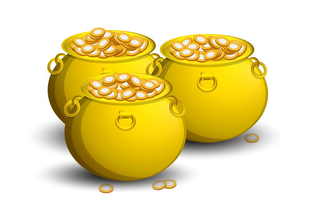Gold Coins Cauldron Set