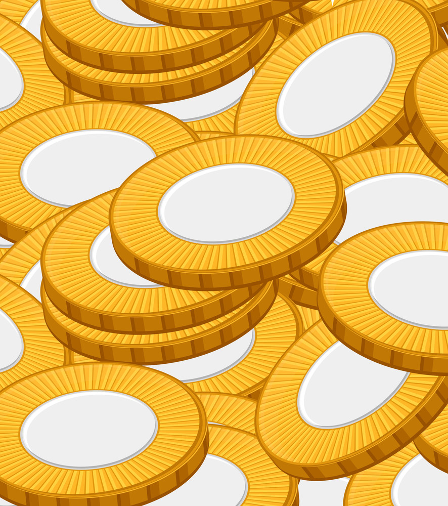 Gold Coins Pattern Background