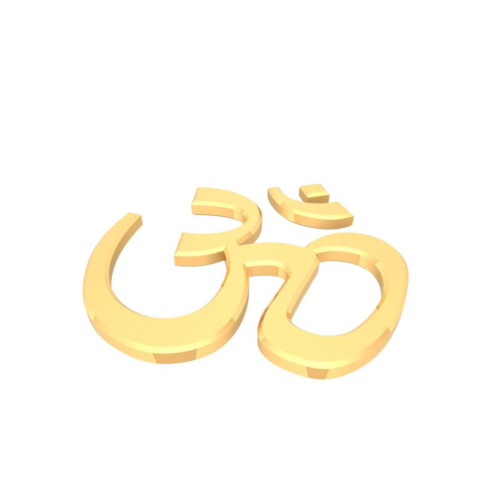 Gold Hinduism Symbol.