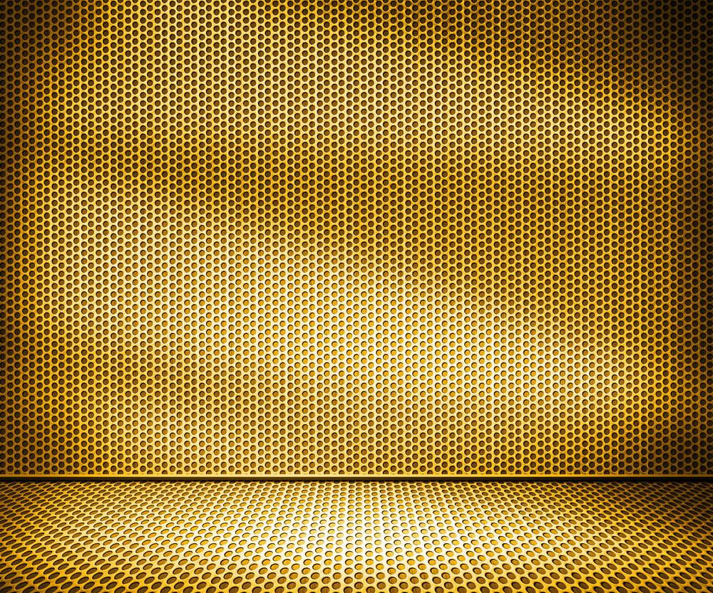 Gold Metal Interior Background