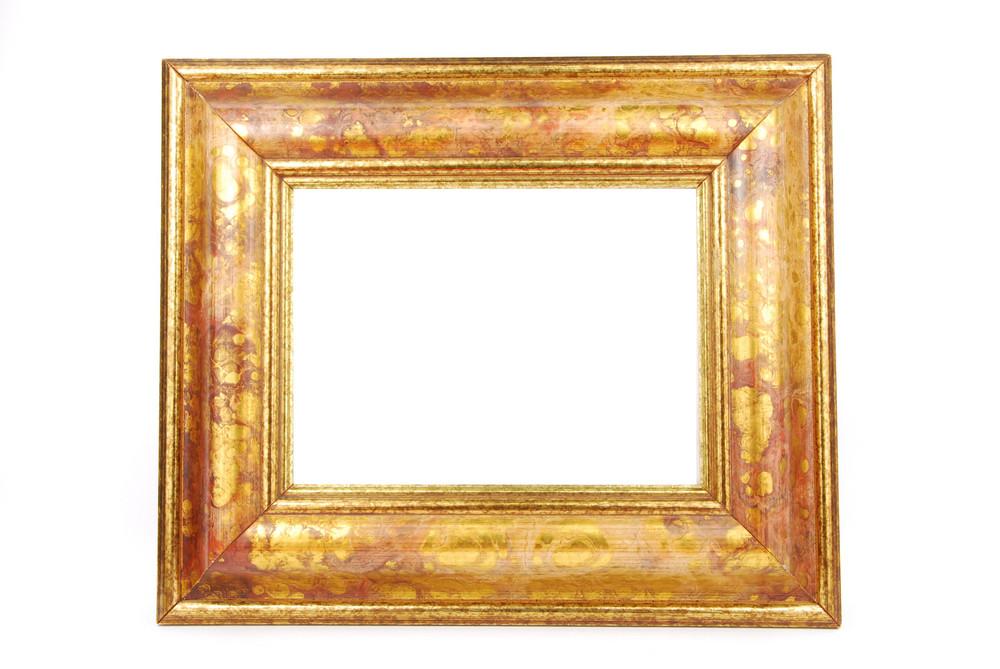Gold Photo-frame On White