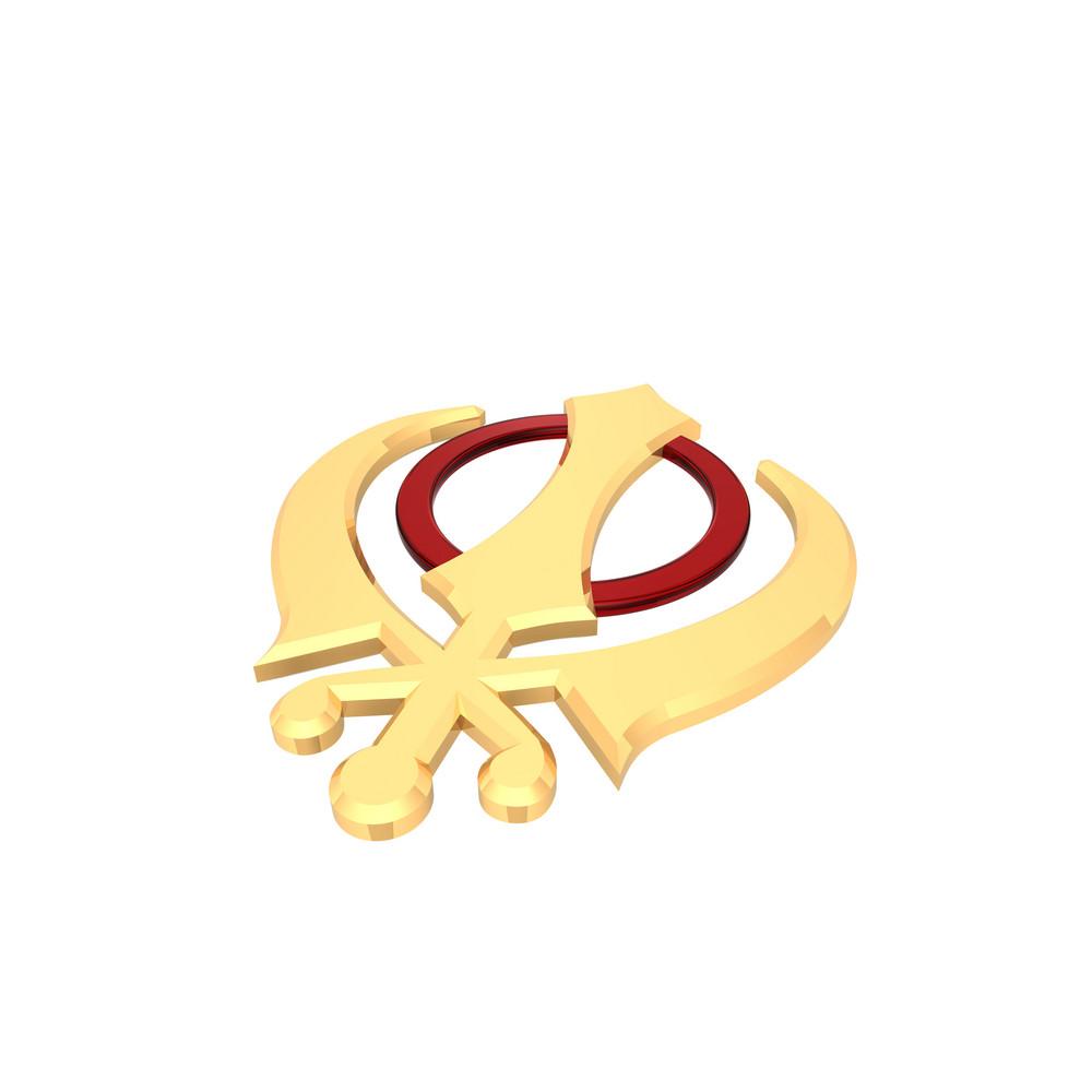 Gold Sikhism Symbol.