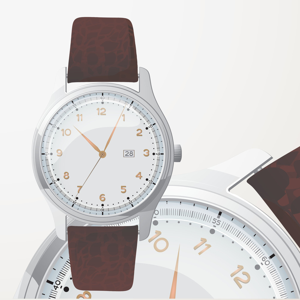 Gold Watch. Vector.