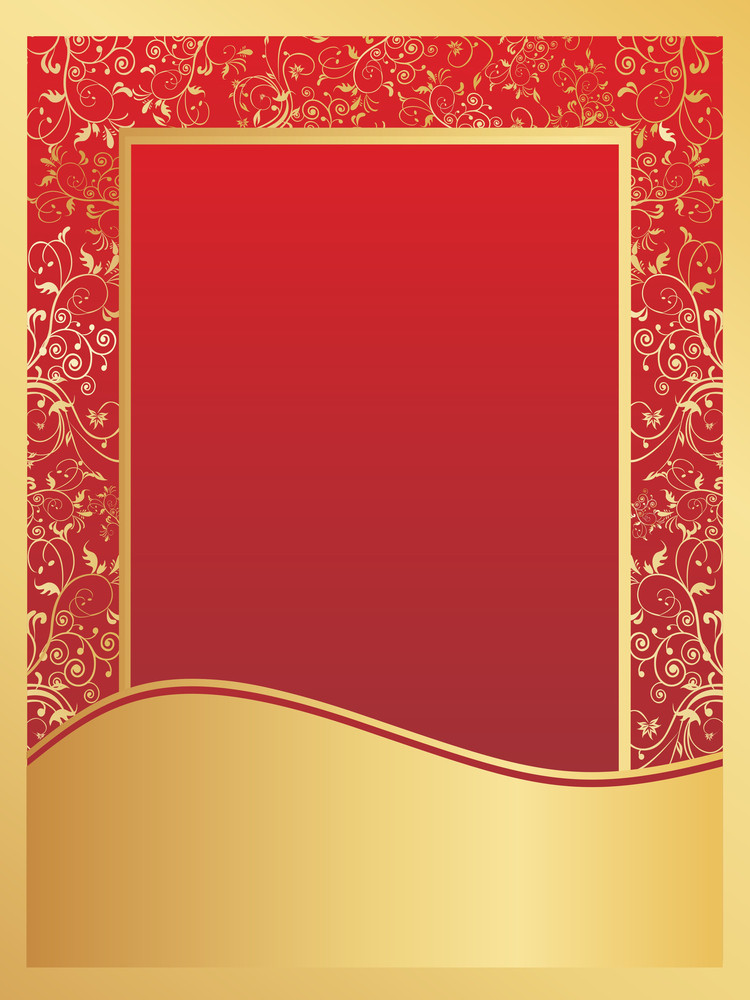Golden And Red Floral Wallpaper