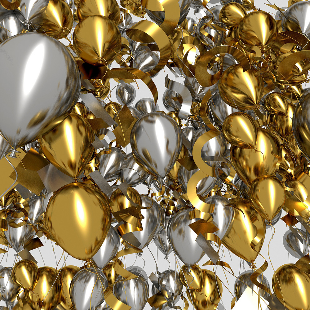 Golden And Silver Balloons