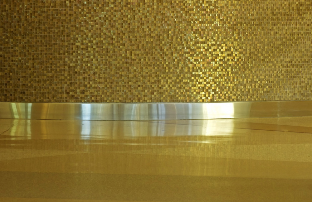 Golden Bathroom Mosaic Tiles Texture