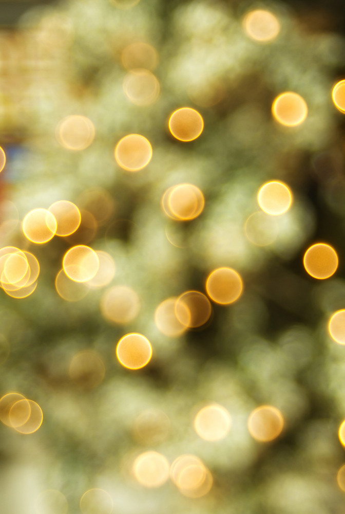 Golden Blur Lights