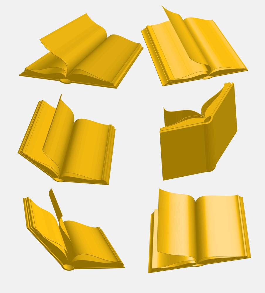 Golden Books. Vector.
