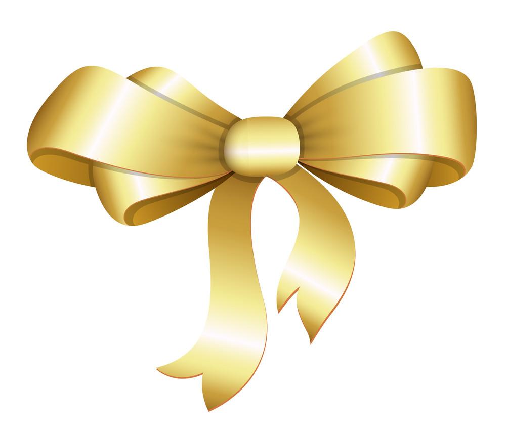 Golden Bow Vector Illustration