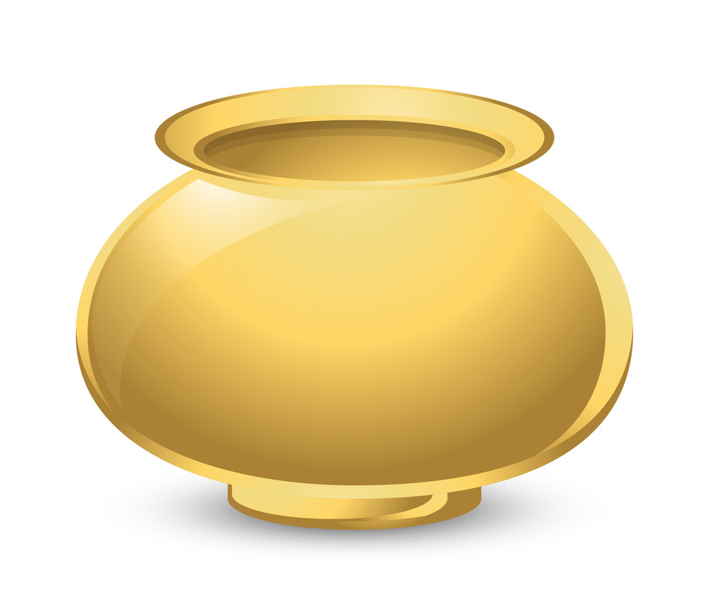 Golden Bright Cauldron