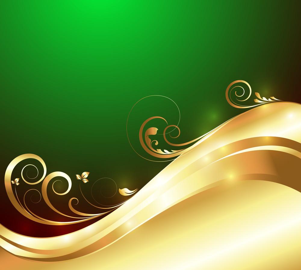 Golden Bright Flourish Background