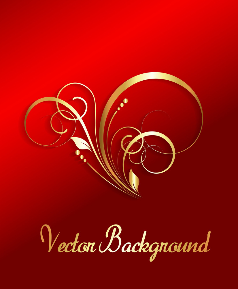 Golden Christmas Floral Banner
