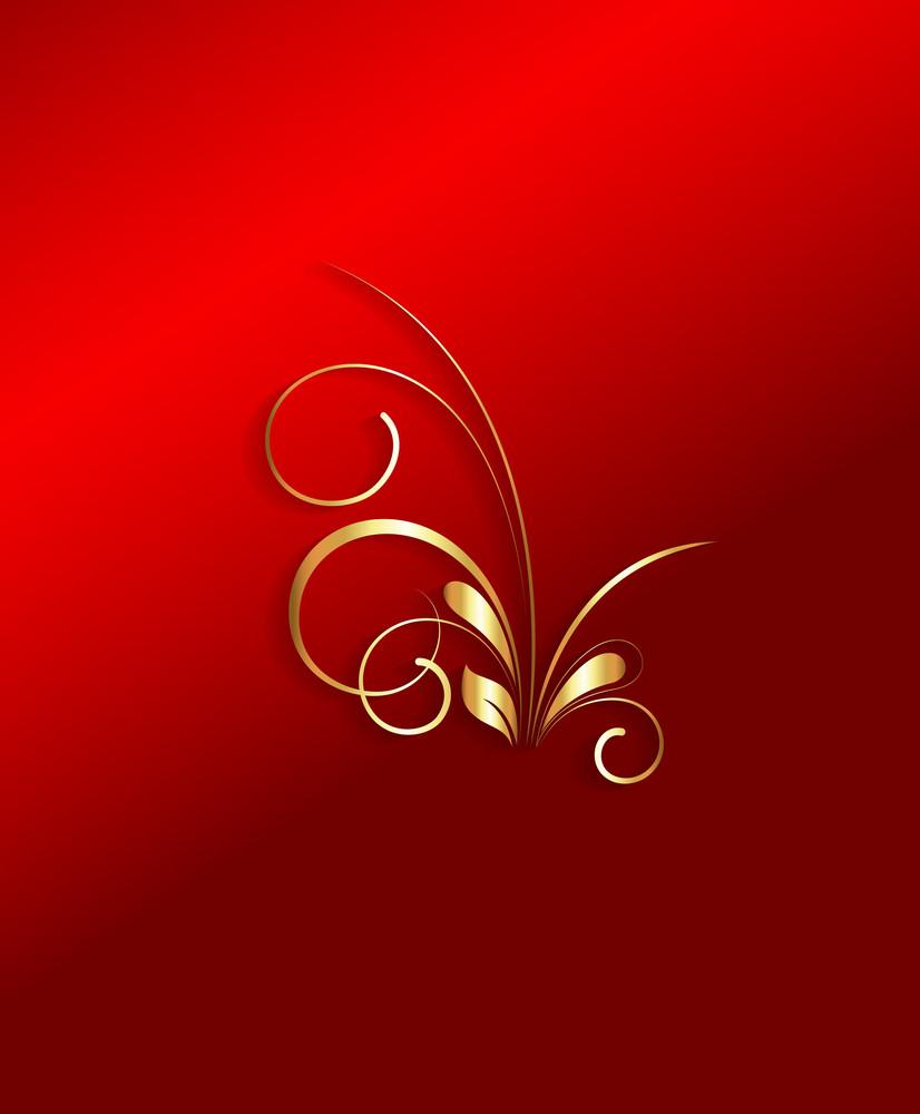 Golden Christmas Flourish