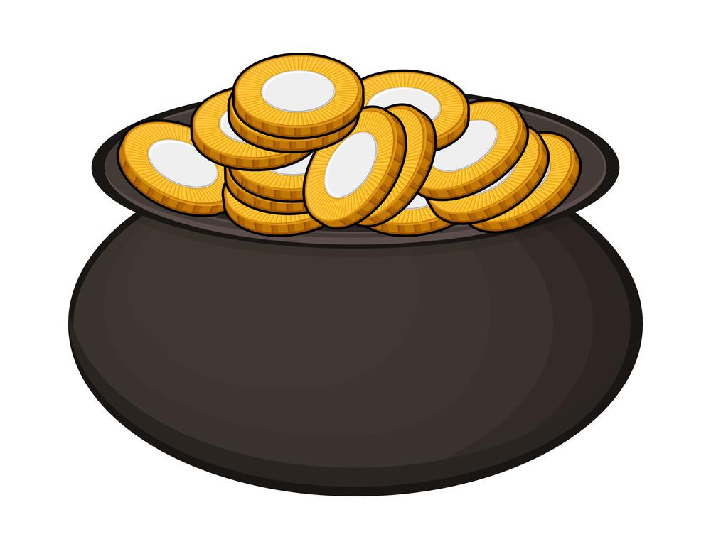 Golden Coins Black Cauldron