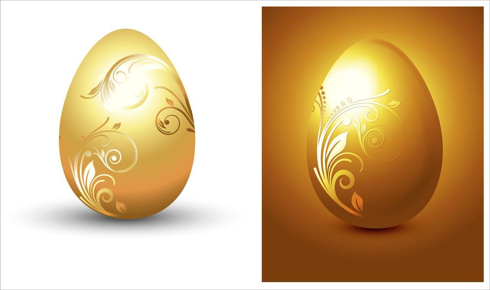 Golden Egg Vector Design