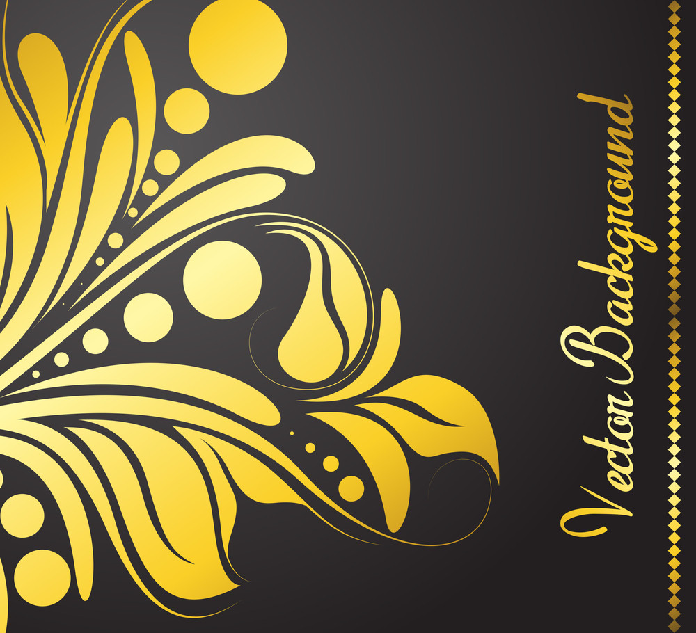 Golden Flora Abstract Template